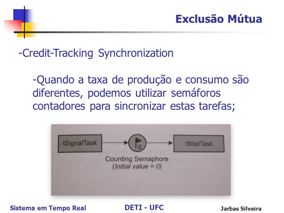Credit-Tracking Synchronization