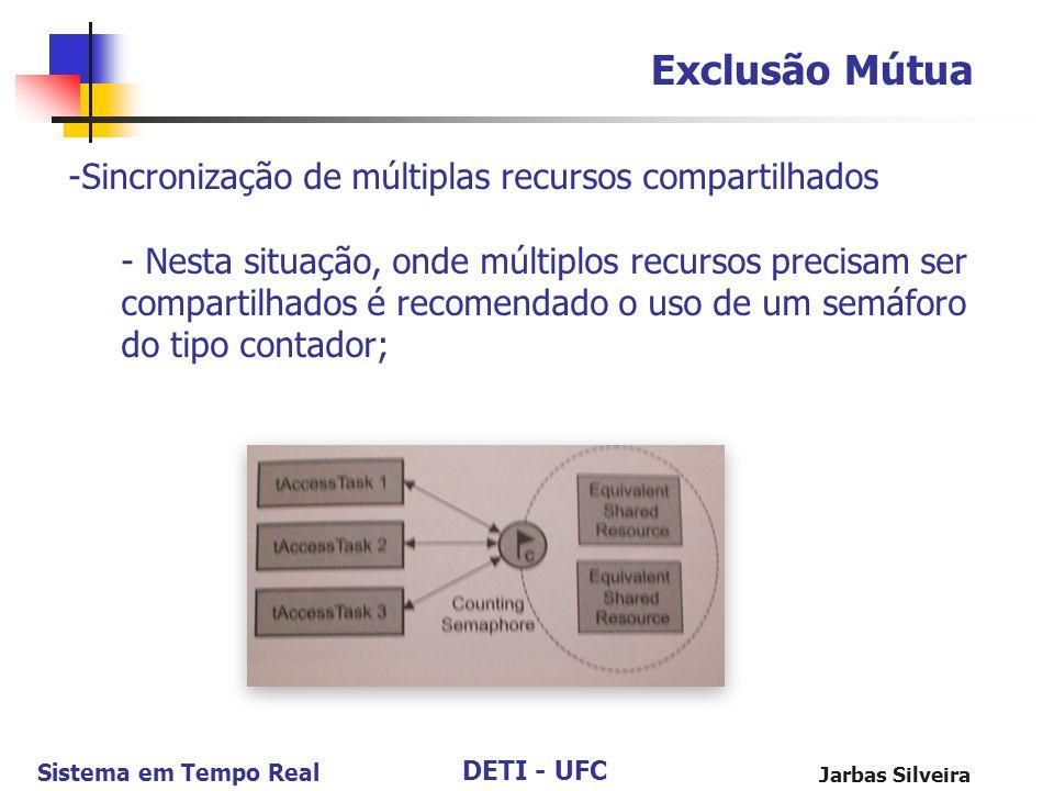 Exclusão Mútua Sincronização de múltiplas recursos compartilhados