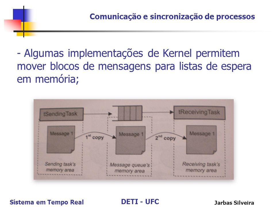 Comunicação e sincronização de processos