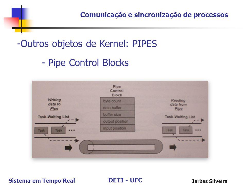 Outros objetos de Kernel: PIPES - Pipe Control Blocks