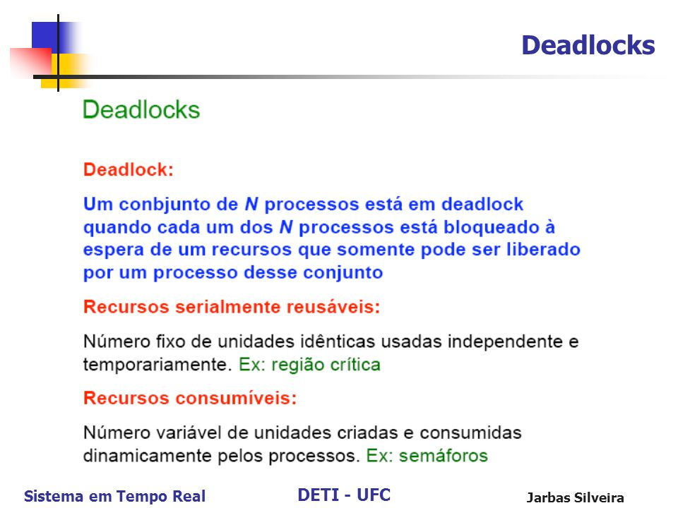 Deadlocks Jarbas Silveira