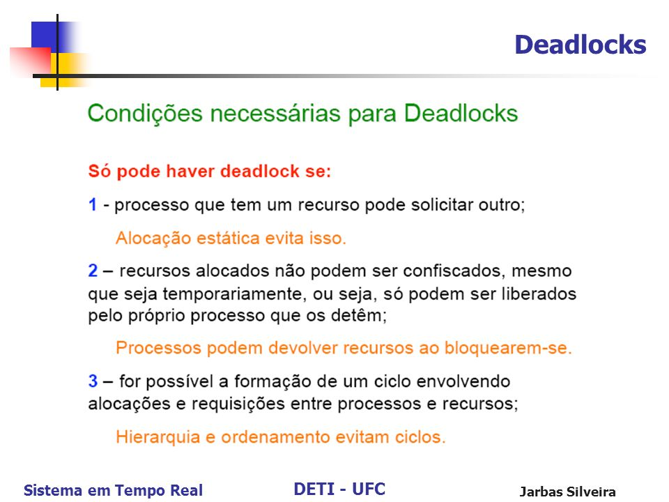 Deadlocks Jarbas Silveira 99