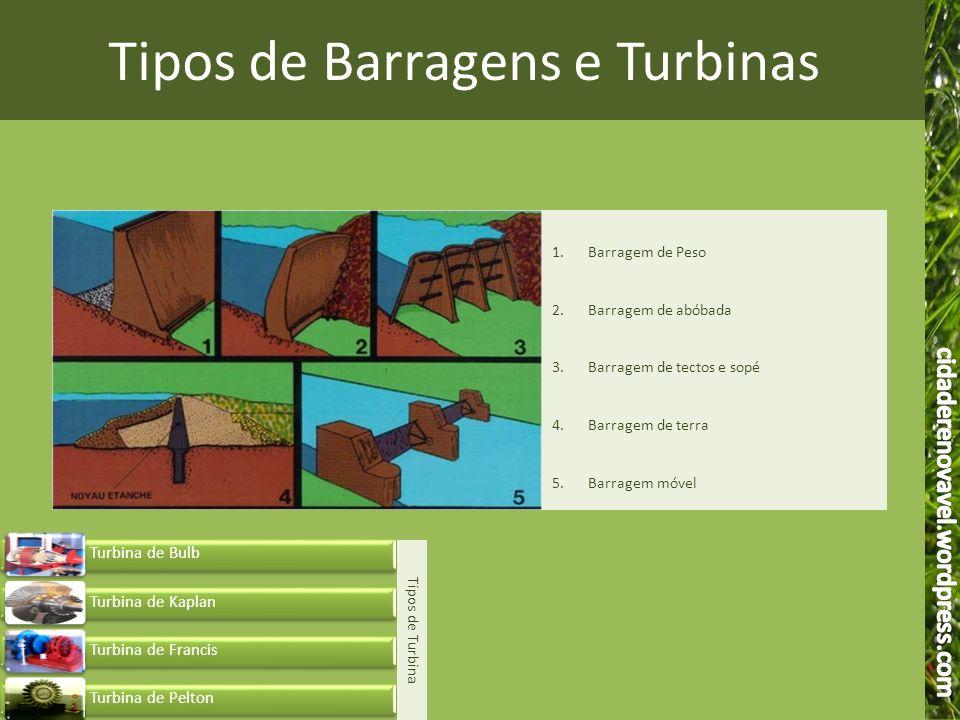 Tipos de Barragens e Turbinas