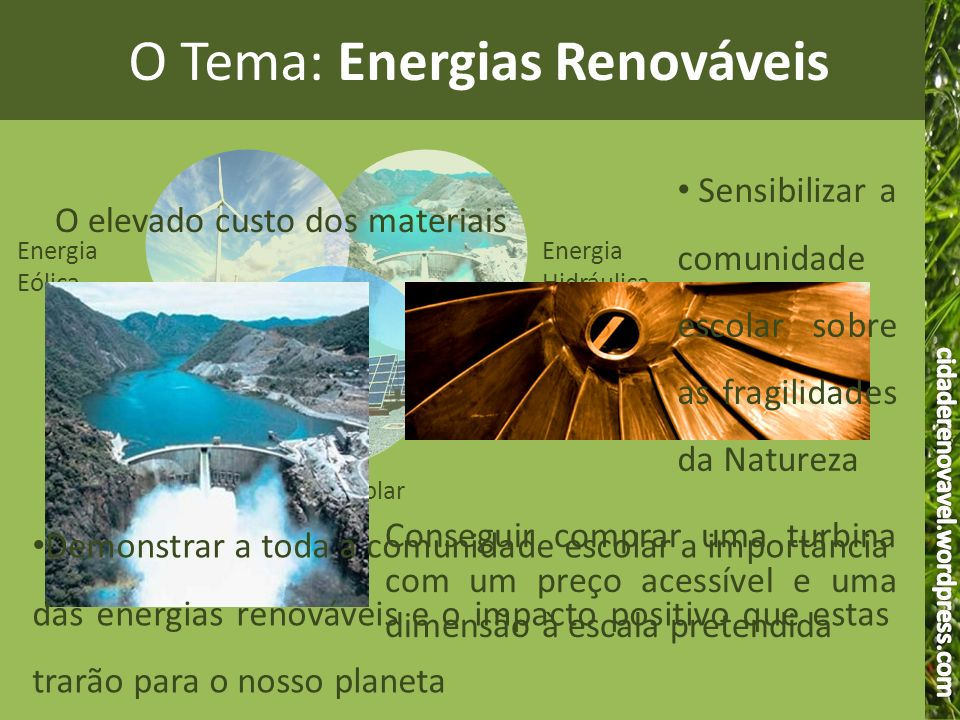 O Tema: Energias Renováveis