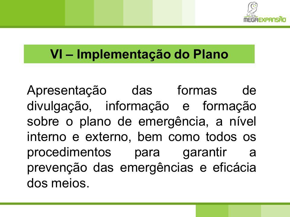 VI – Implementação do Plano