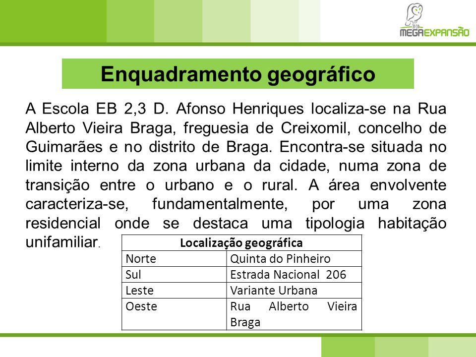 Enquadramento geográfico Localização geográfica