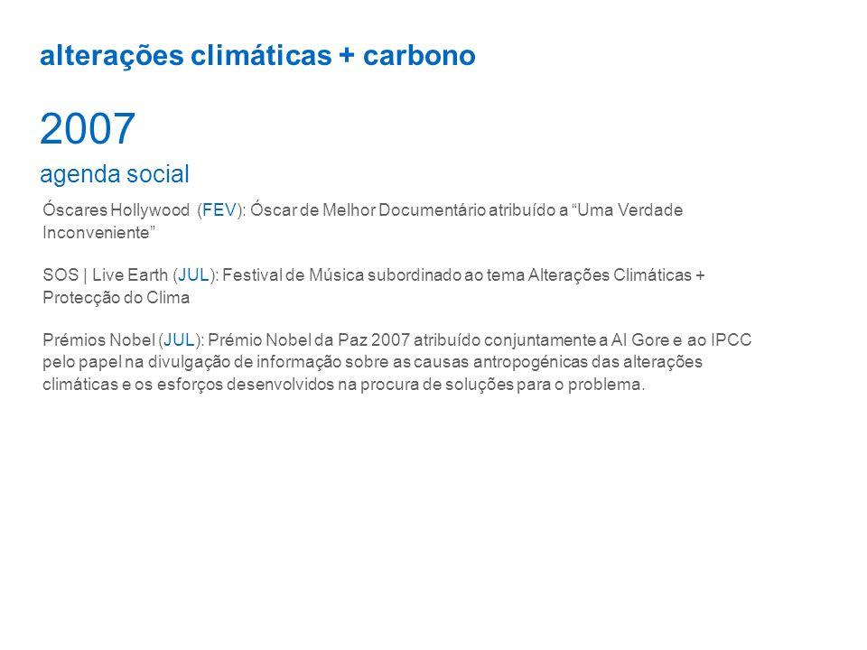 2007 alterações climáticas + carbono agenda social