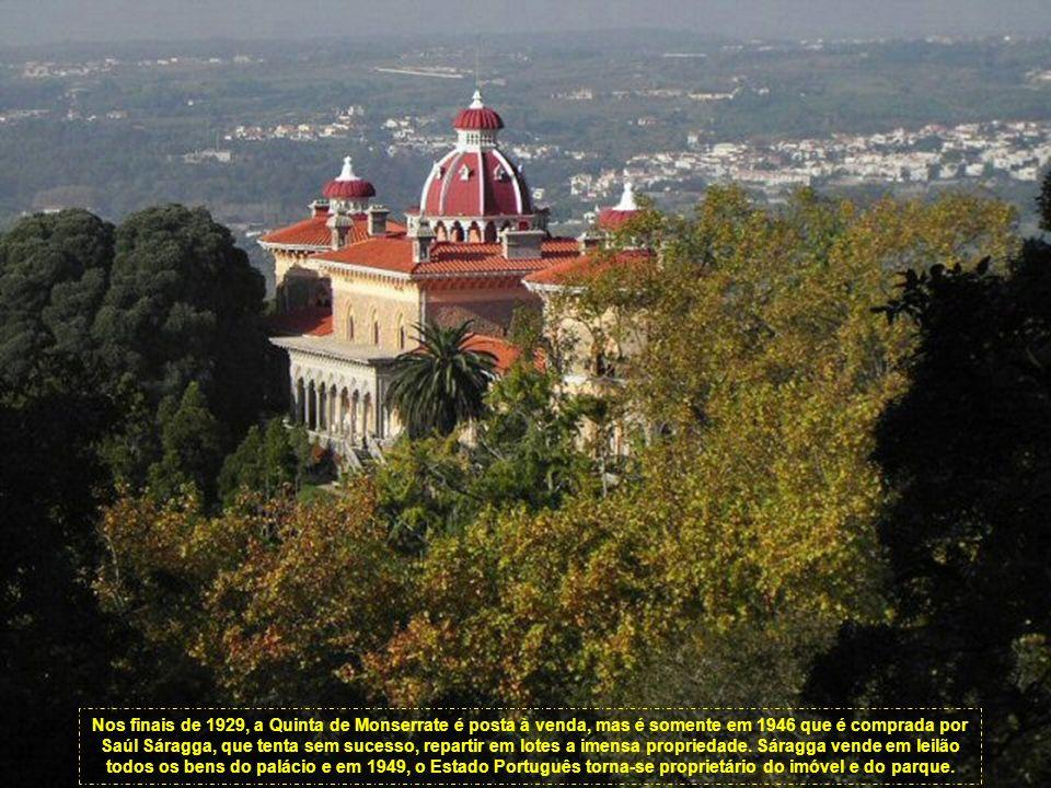 Nos finais de 1929, a Quinta de Monserrate é posta à venda, mas é somente em 1946 que é comprada por Saúl Sáragga, que tenta sem sucesso, repartir em lotes a imensa propriedade.