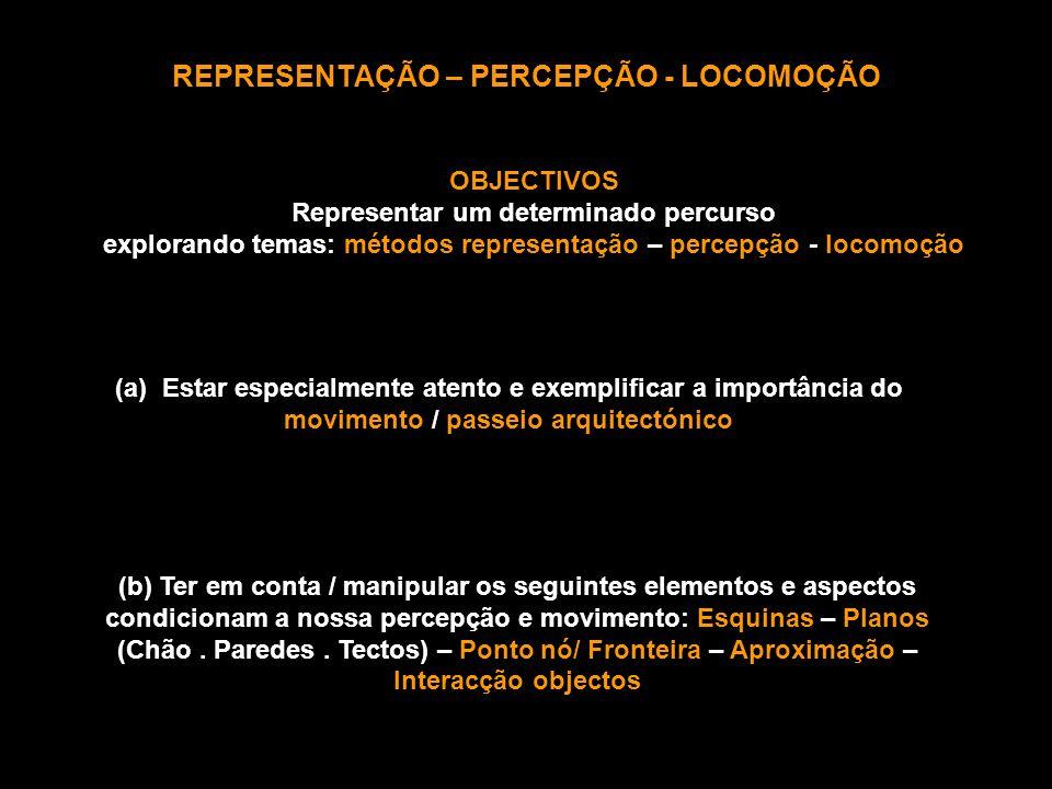 REPRESENTAÇÃO – PERCEPÇÃO - LOCOMOÇÃO