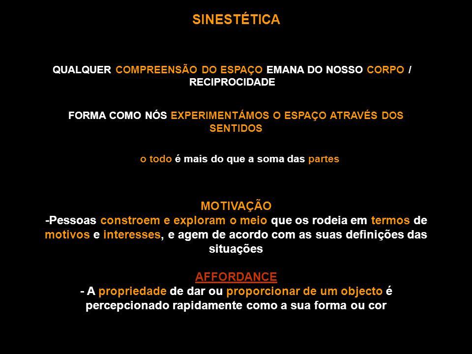 QUALQUER COMPREENSÃO DO ESPAÇO EMANA DO NOSSO CORPO / RECIPROCIDADE