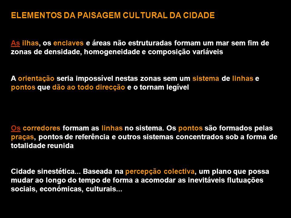 ELEMENTOS DA PAISAGEM CULTURAL DA CIDADE