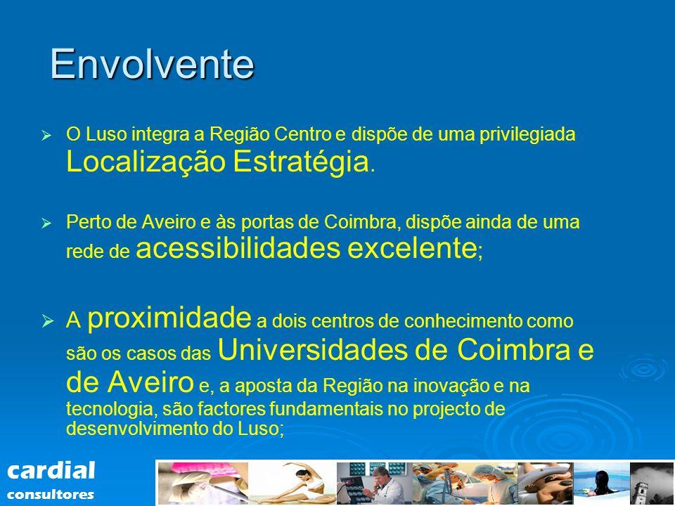 Envolvente O Luso integra a Região Centro e dispõe de uma privilegiada Localização Estratégia.