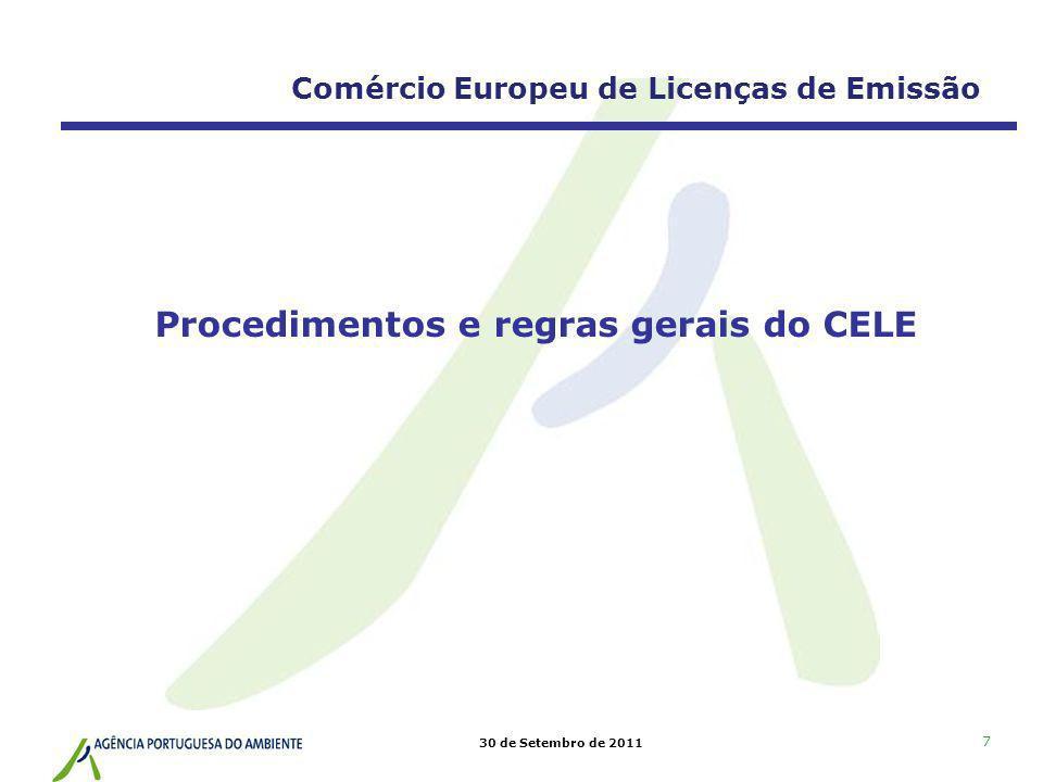 Procedimentos e regras gerais do CELE