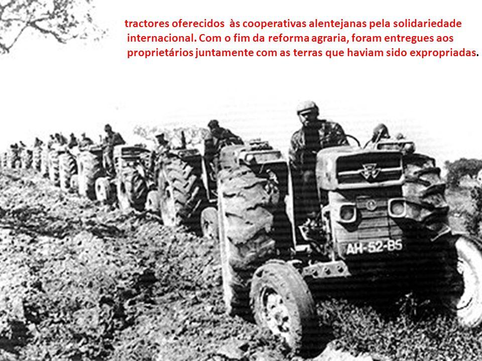 tractores oferecidos às cooperativas alentejanas pela solidariedade
