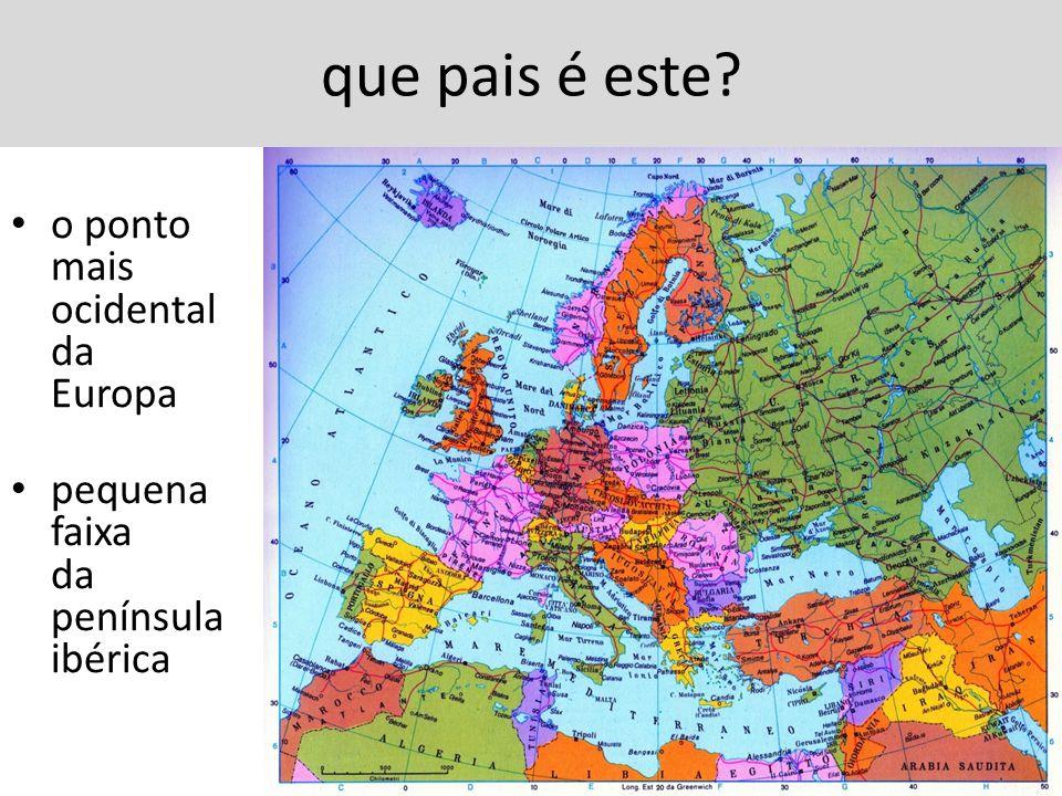 que pais é este o ponto mais ocidental da Europa