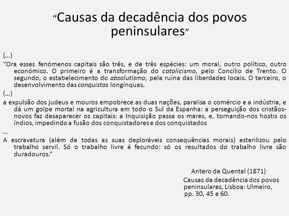 Causas da decadência dos povos peninsulares