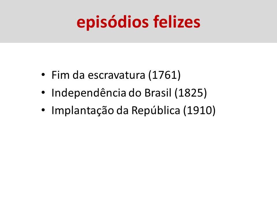 episódios felizes Fim da escravatura (1761)