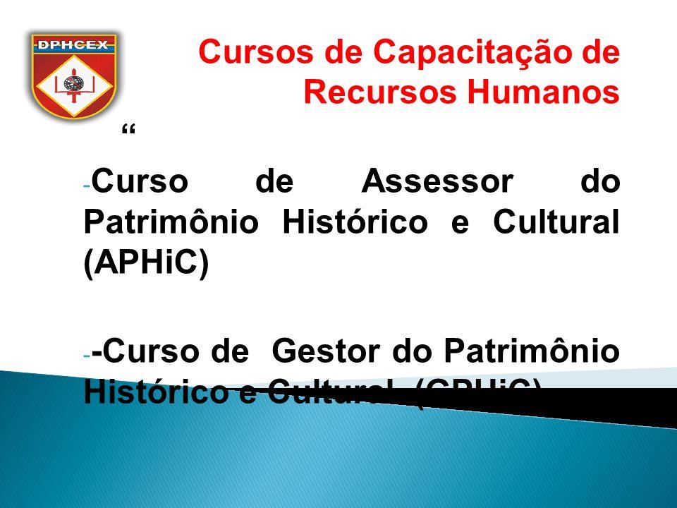 Cursos de Capacitação de Recursos Humanos
