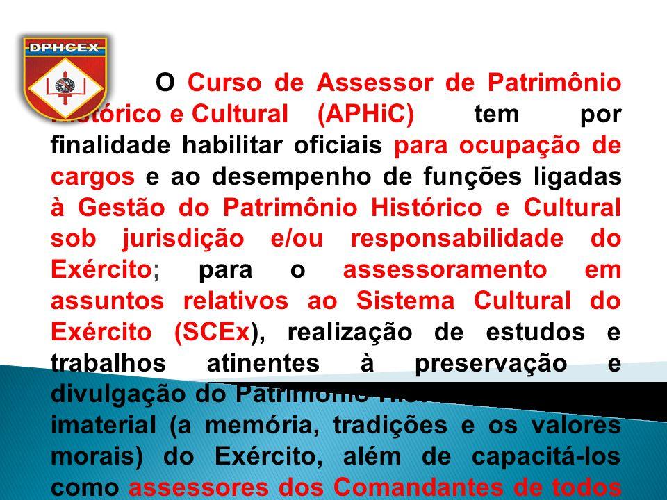 O Curso de Assessor de Patrimônio Histórico e Cultural