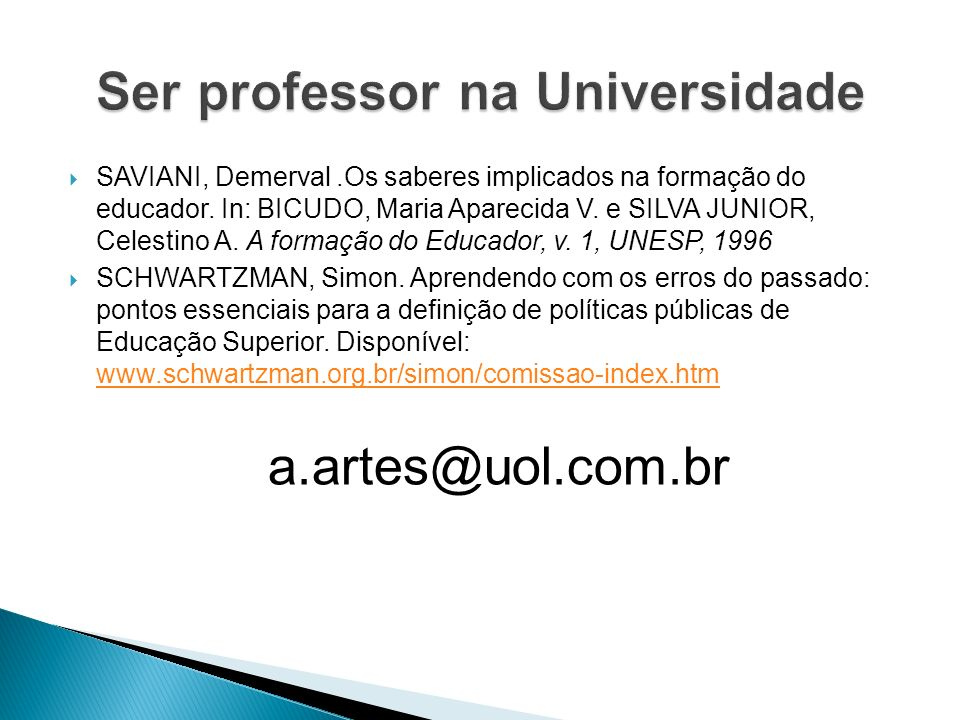Ser professor na Universidade