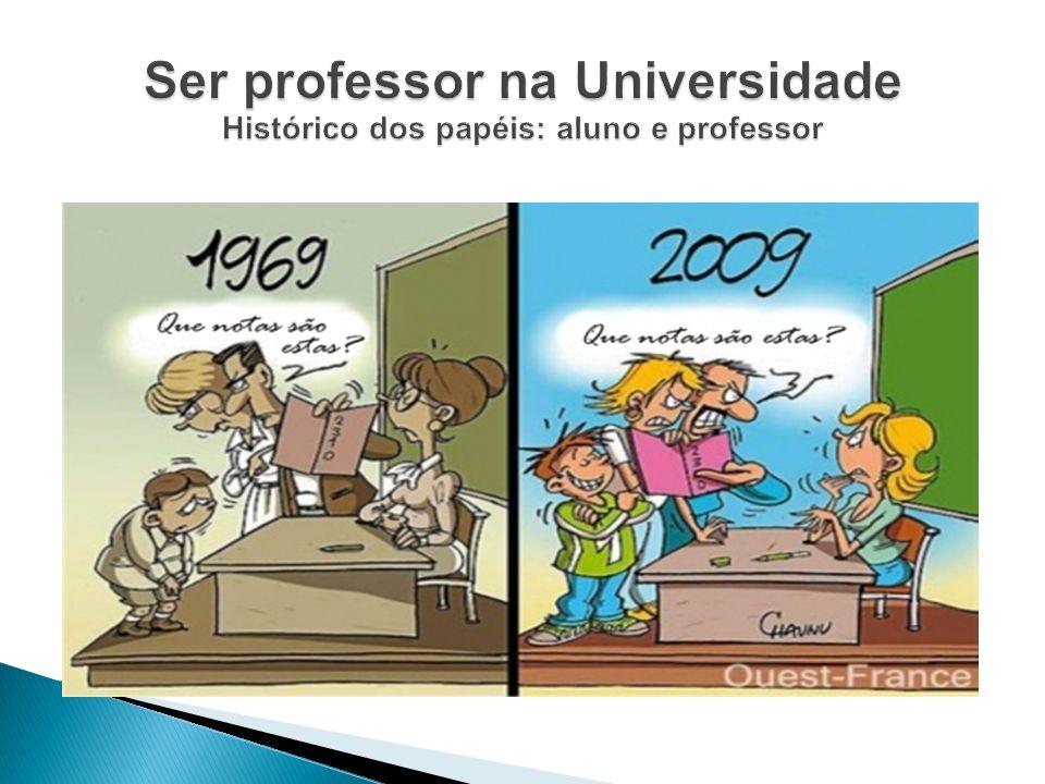 Ser professor na Universidade Histórico dos papéis: aluno e professor