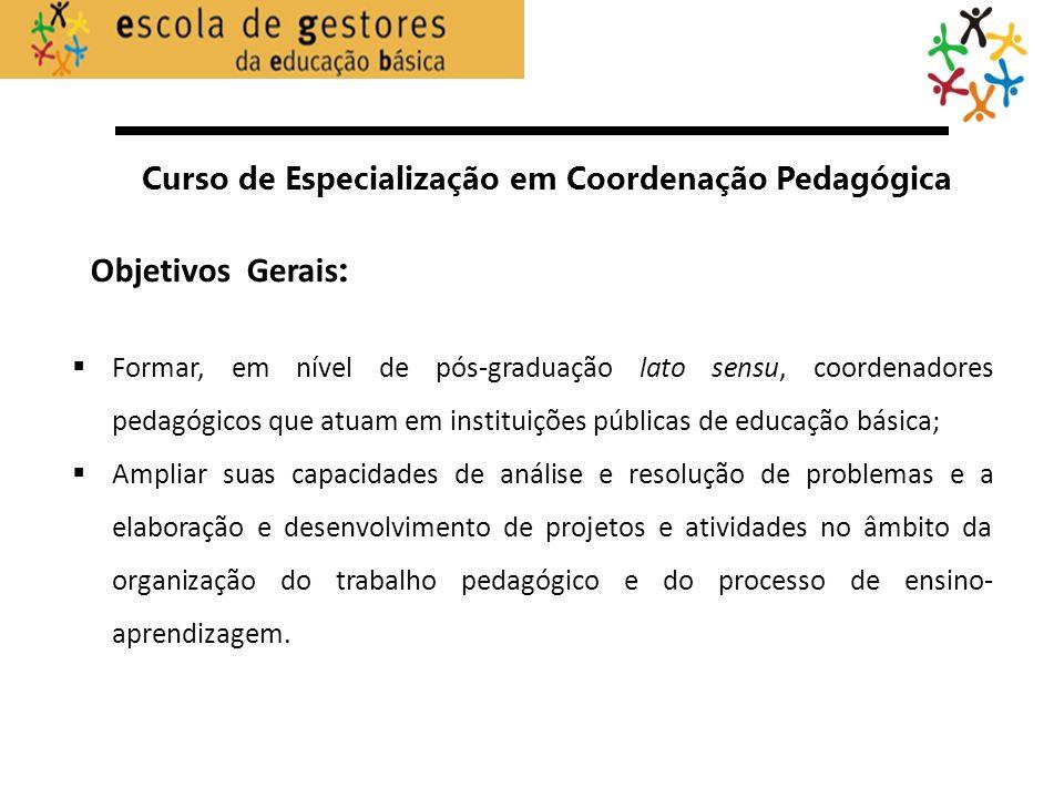 Curso de Especialização em Coordenação Pedagógica