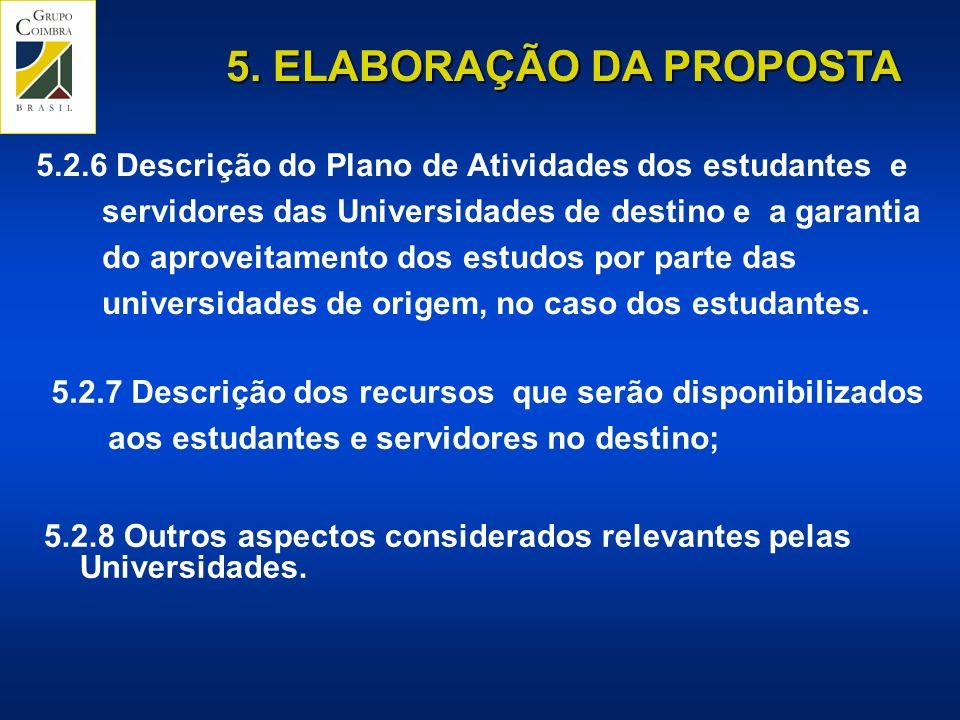 5. ELABORAÇÃO DA PROPOSTA