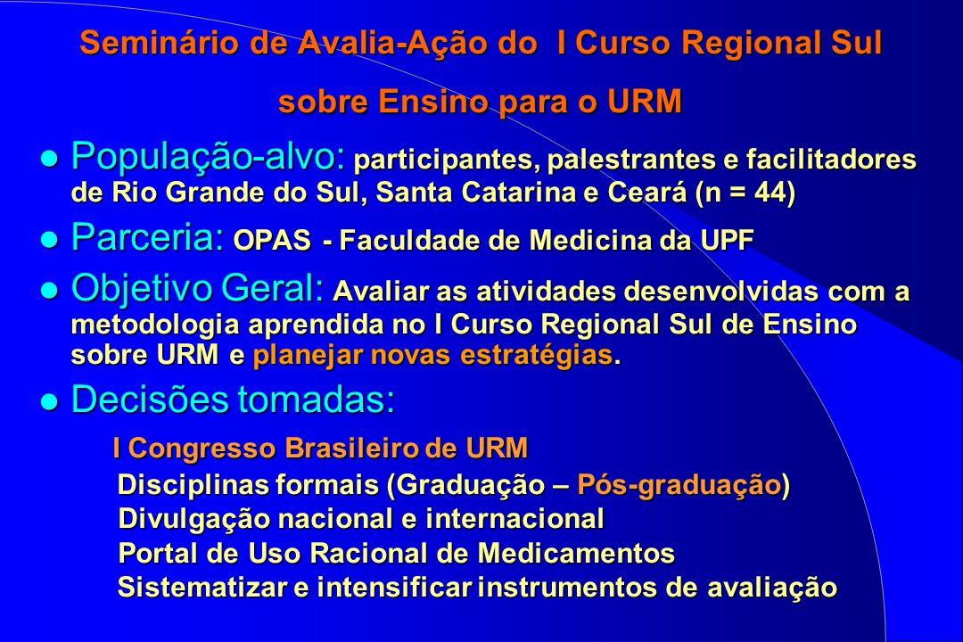 Parceria: OPAS - Faculdade de Medicina da UPF