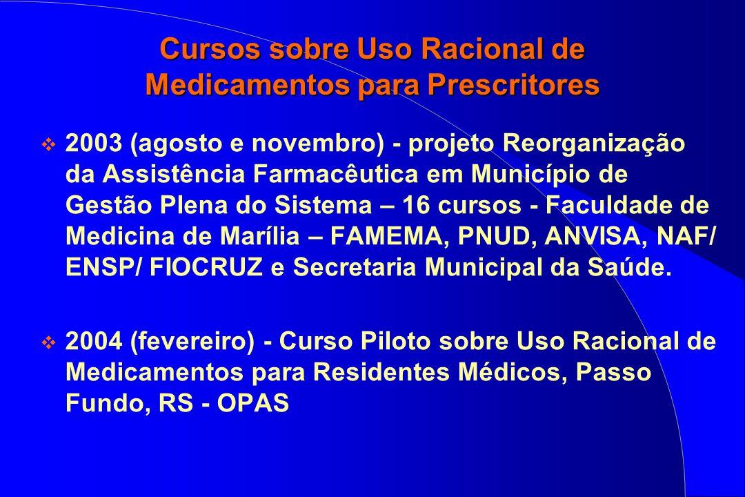 Cursos sobre Uso Racional de Medicamentos para Prescritores