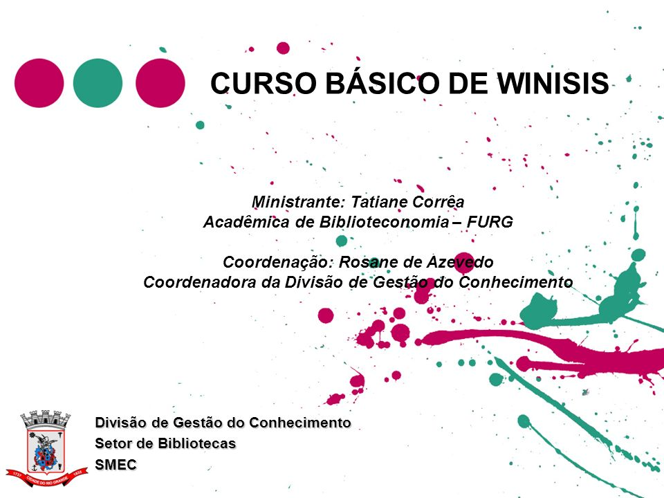 CURSO BÁSICO DE WINISIS