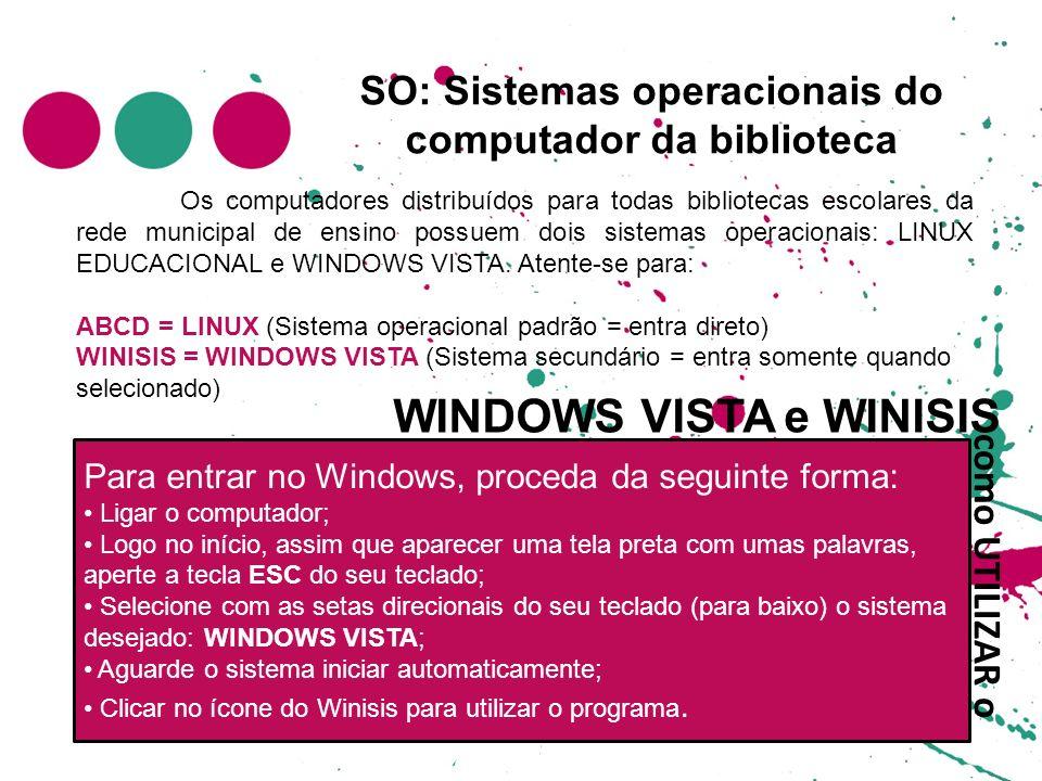 SO: Sistemas operacionais do computador da biblioteca