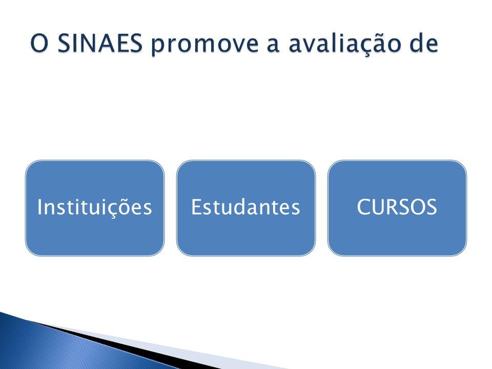 O SINAES promove a avaliação de