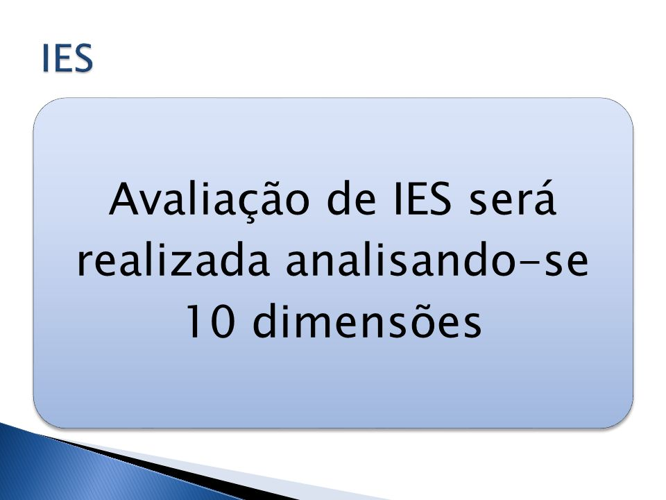 Avaliação de IES será realizada analisando-se 10 dimensões