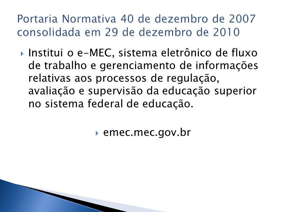 Portaria Normativa 40 de dezembro de 2007 consolidada em 29 de dezembro de 2010