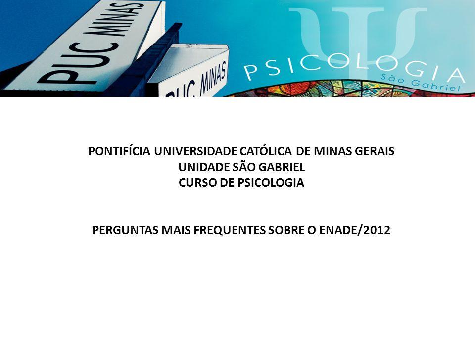 PONTIFÍCIA UNIVERSIDADE CATÓLICA DE MINAS GERAIS UNIDADE SÃO GABRIEL