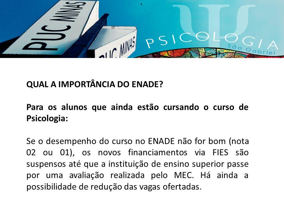 QUAL A IMPORTÂNCIA DO ENADE