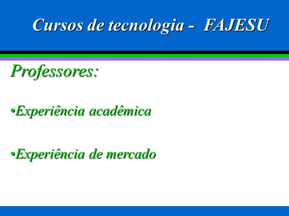 Cursos de tecnologia - FAJESU