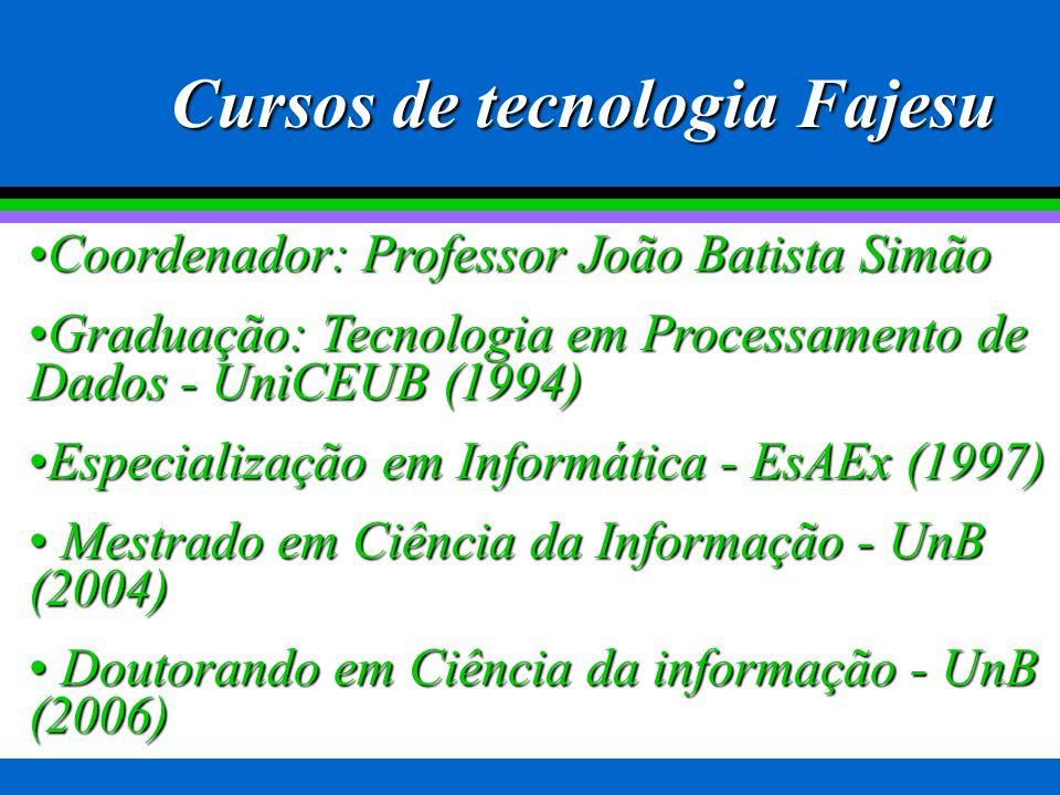 Cursos de tecnologia Fajesu