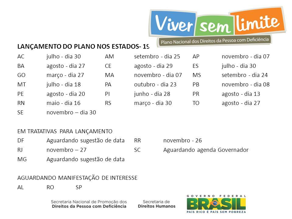 LANÇAMENTO DO PLANO NOS ESTADOS- 19