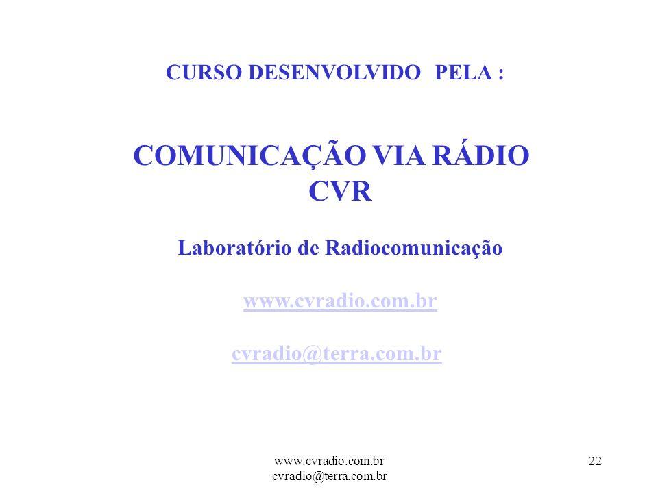 Comunicação Via Rádio CVR