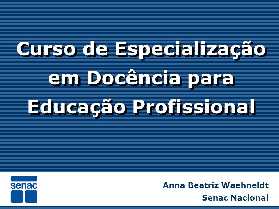 Curso de Especialização em Docência para Educação Profissional