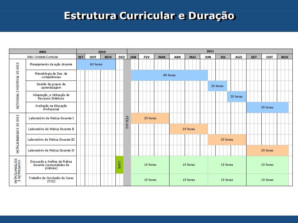 Estrutura Curricular e Duração