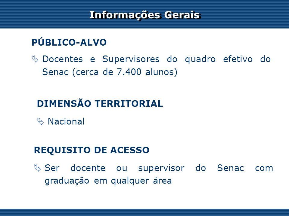 Informações Gerais PÚBLICO-ALVO