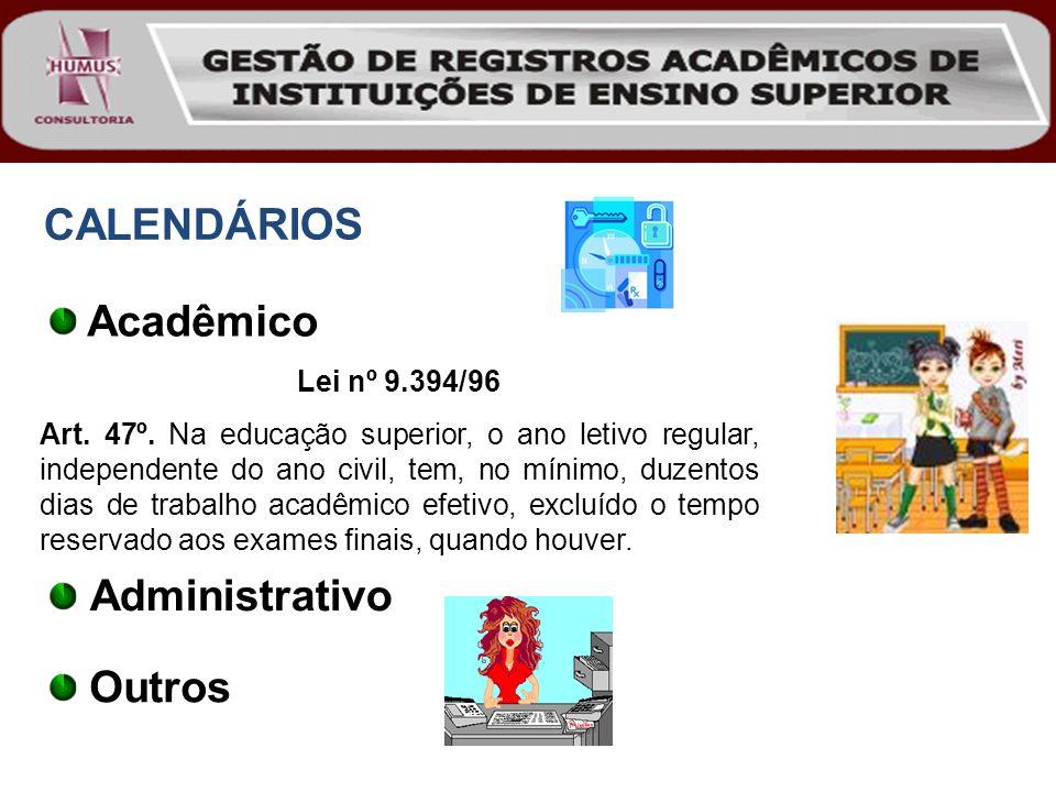 CALENDÁRIOS Acadêmico Administrativo Outros Lei nº 9.394/96