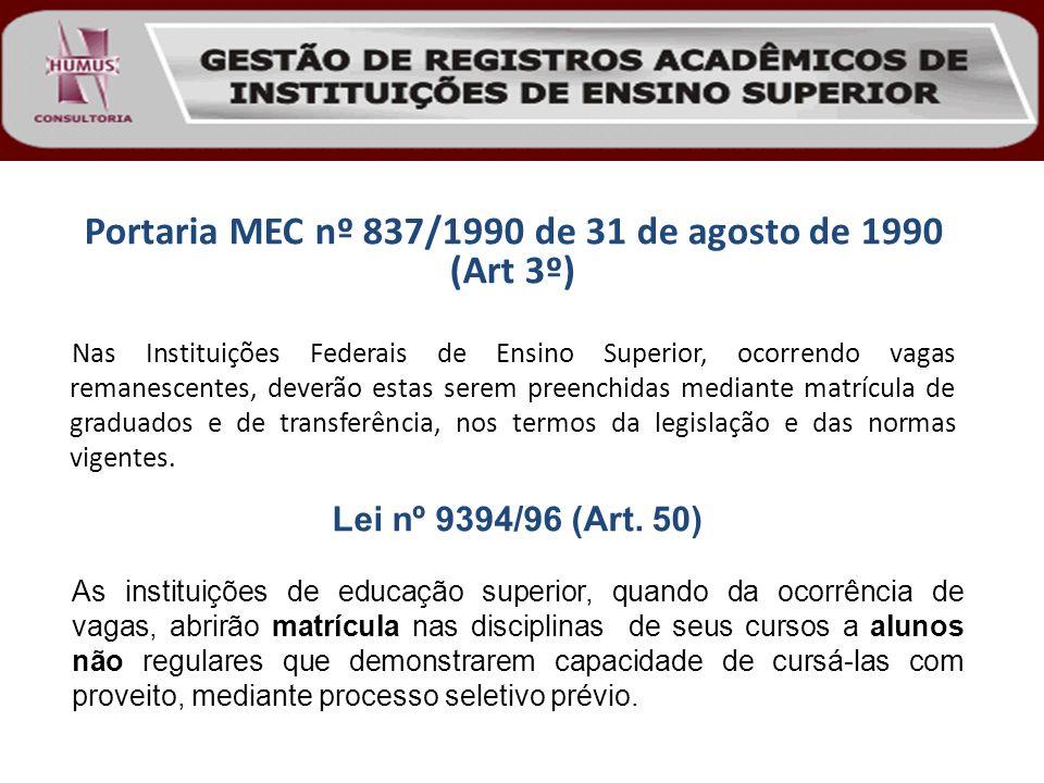Portaria MEC nº 837/1990 de 31 de agosto de 1990 (Art 3º)