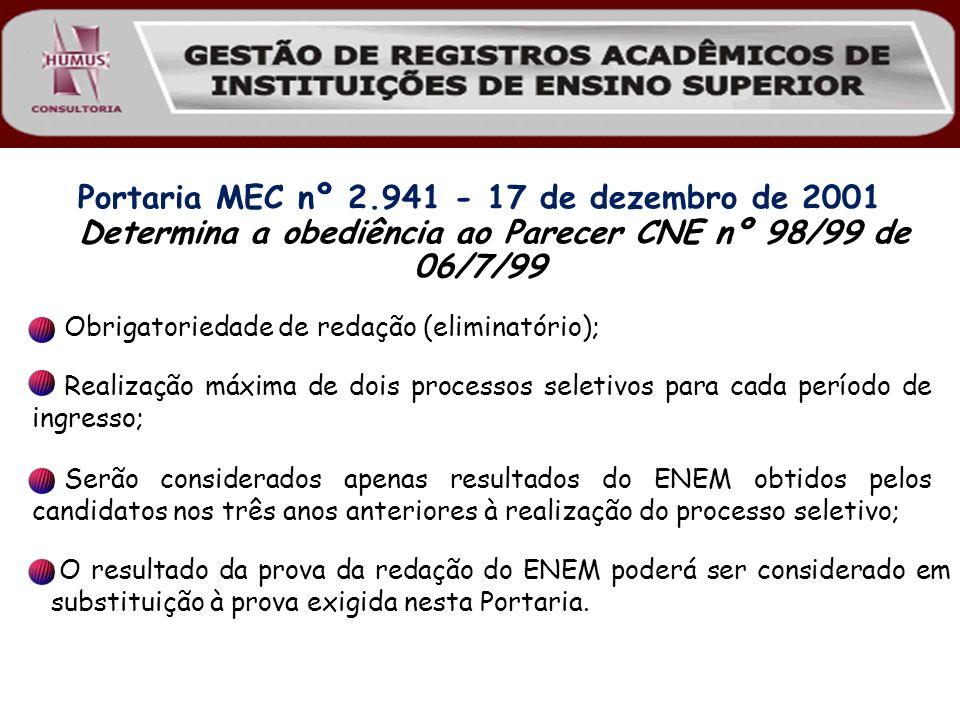 Portaria MEC nº 2.941 - 17 de dezembro de 2001