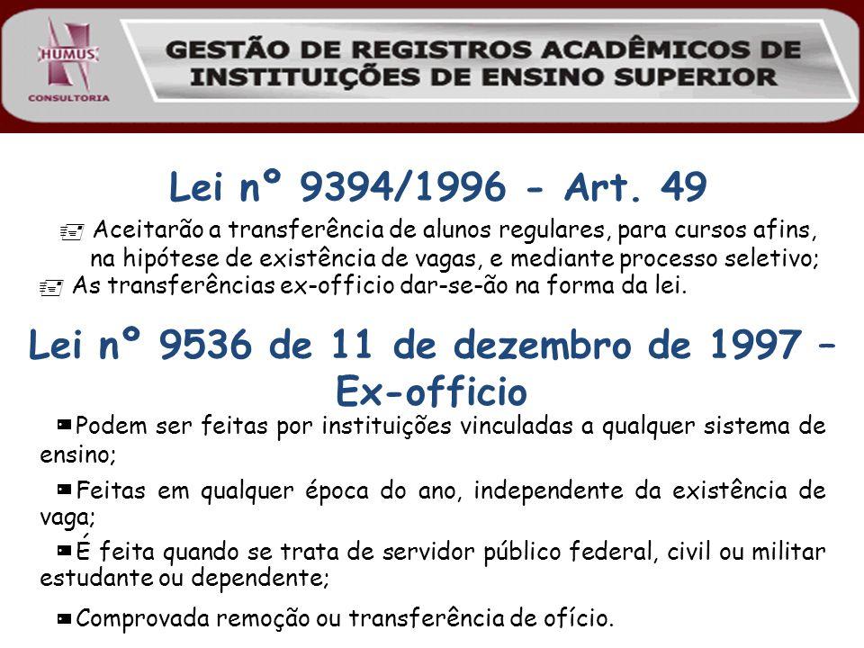 Lei nº 9536 de 11 de dezembro de 1997 – Ex-officio