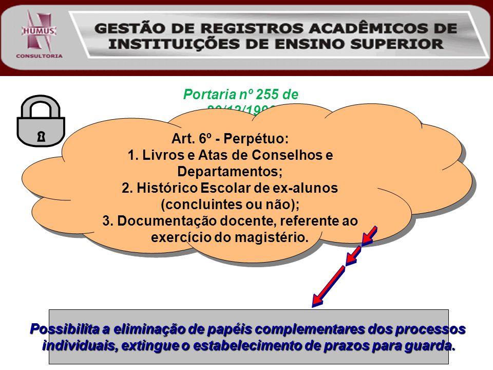 1. Livros e Atas de Conselhos e Departamentos;