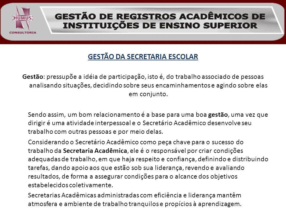 GESTÃO DA SECRETARIA ESCOLAR