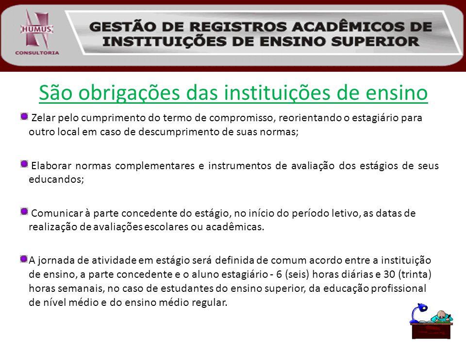 São obrigações das instituições de ensino